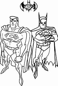 Superman Vs Batman Coloring Pages Printable Free