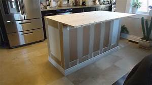 Building a kitchen island Small Space Style