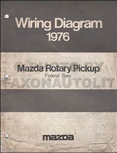 1976 Mazda Rotary Pickup Wiring Diagram Manual Original