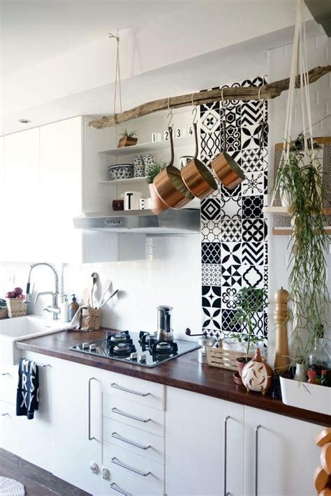 credence adhesive cuisine credence cuisine en carreaux de ciment de