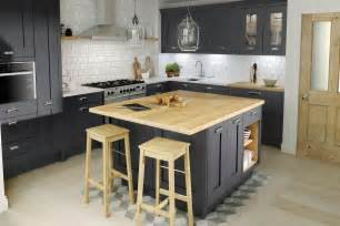 island ideas for small kitchens classic shaker milbourne door in a bold charcoal