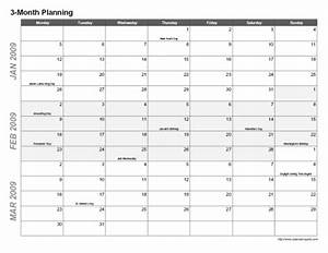 multi month calendar printable calendar template 2016 With multiple month calendar template