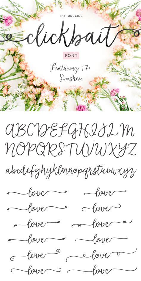 clickbait cute swash calligraphy font full version
