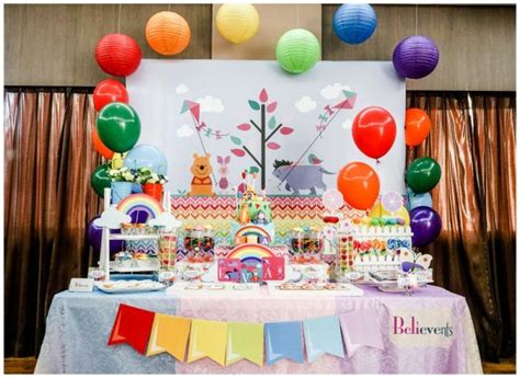colorful winnie  pooh birthday birthday party ideas themes