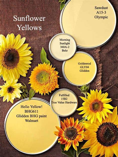 sunflower yellow paint colors via bhg color palettes