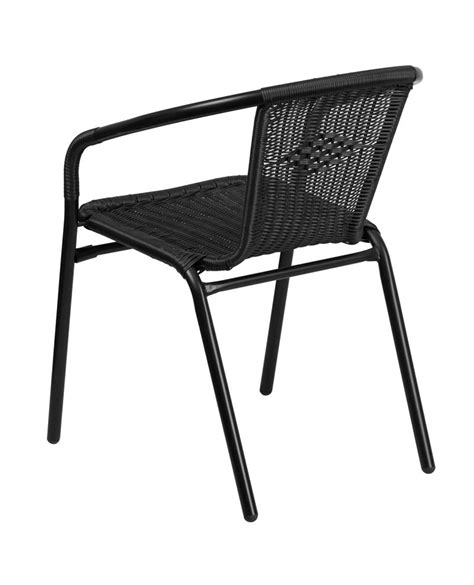 rattan indoor outdoor restaurant stacking chairs