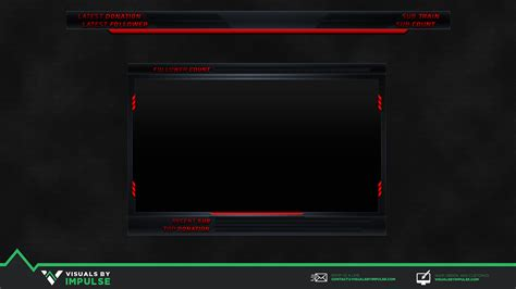 twitch stream overlay visuals  impulse