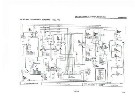 electric diagram john deere tractor
