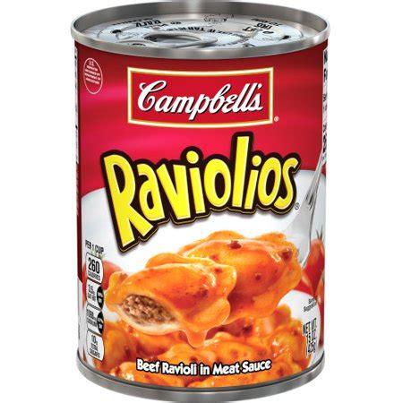 campbells canned pasta raviolios beef ravioli  meat