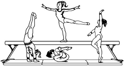 gymnastics coloring pages  pictures quotes  clipart print color craft