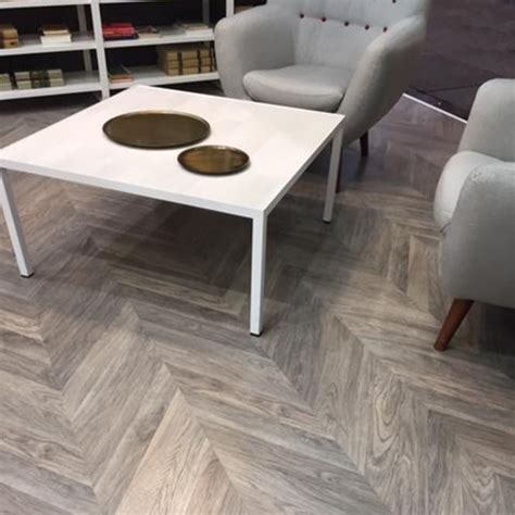 Executive Grey Herringbone Multi Smoked Parquet Laminate