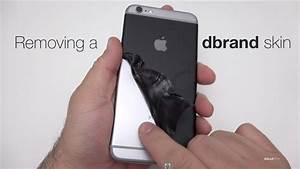 Removing a dbrand skin from an iPhone