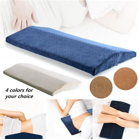 pillows for back memory foam back lumbar support sleeping cushion