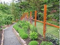 magnificent patio fence design ideas Magnificent Deer Fence Designs with Gravel Pathway Garden ...