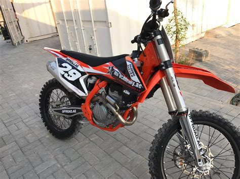 ktm 250 sxf ktm 250 sx f 2018 with new stickers from moto 1812