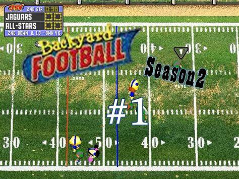 backyard football pc backyard football 1999 pc season 2 1 new season