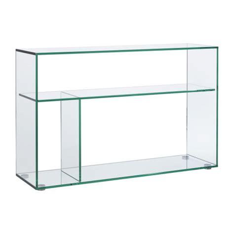 Gem Console Tables Transparent Glass Metal Habitat