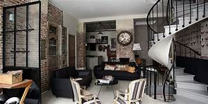 de l39authentique pur le style industriel la maison de With charming couleur tendance deco salon 4 un salon vintage le blog deco de maisons du monde