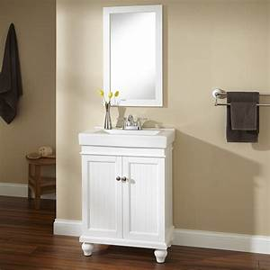 24quot lander vanity white bathroom vanities bathroom for White vanity cabinets for bathrooms