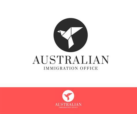 australian immigration bureau serio profesional diseño de logo para australian