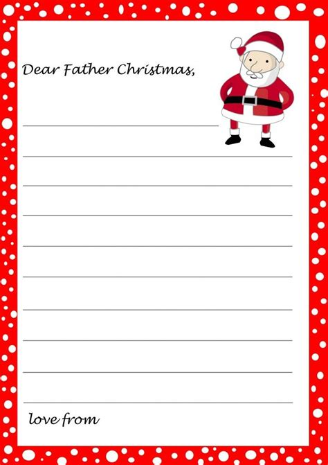 template letter  santa christmas  children