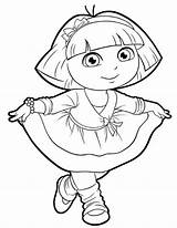 Dora Coloring Pages Drawing Explorer Printable Friends Sheets Template Adventure Christmas Dancing Printables Dance Drawings Getdrawings Jungle Sketch Explore Doratheexplorertvshow sketch template