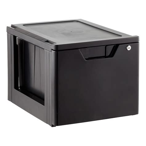 stackable storage drawers iris black stackable locking file drawer the container