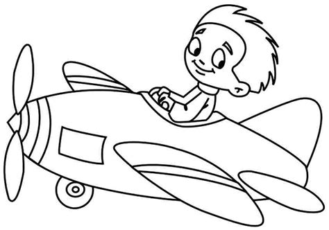 Transportation Cartoon Plane Coloring Sheets Printable