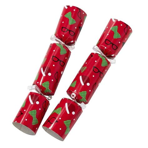 set of six photo booth christmas crackers by hope and