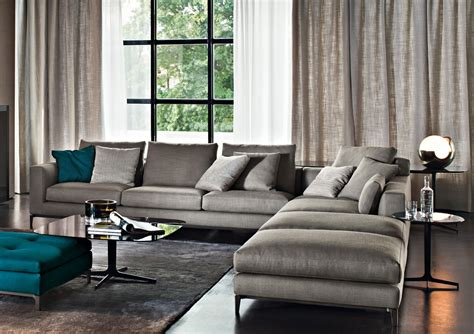 Gray Sectional Living Room Ideas by Furniture Minotti On Sofas Armchairs And