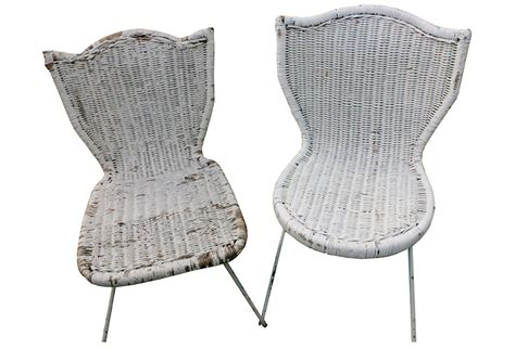 white wicker garden chairs pair second shout out