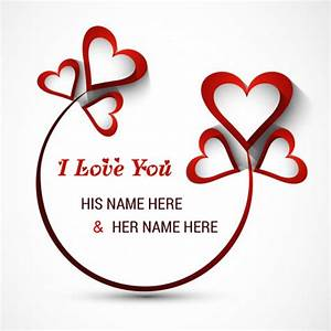 I Love You Wallpaper Edit Name Amatwallpaperorg