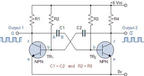 Astable Multivibrator Oscillator Circuit