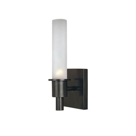 bronze bathroom light fixtures home depot world imports luray 1 light rubbed bronze bath and