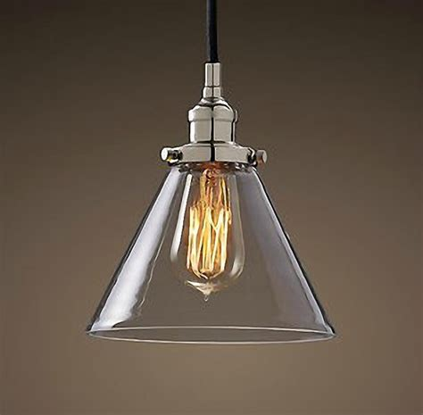 antique chrome cap glass pendant lighting contemporary