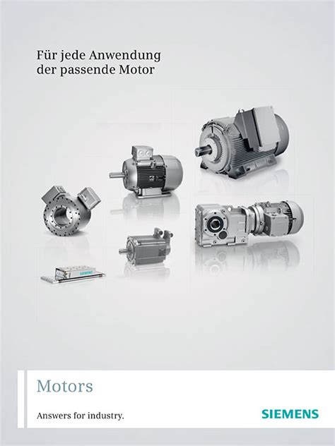 Electric Motor Catalogue by Siemens Catalogues Siemens Converters Siemens Electric