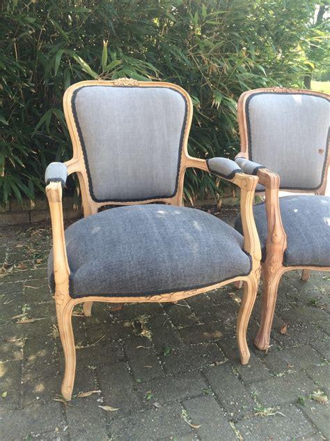stoel hout stof lodewijk stoel vintage stof hout afgewerkt met olie