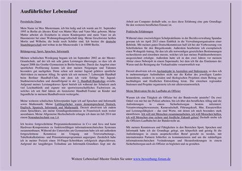 Lebenslauf Aufsatzform Muster by Lebenslauf Aufsatzform Ausformuliert Handschriftlich