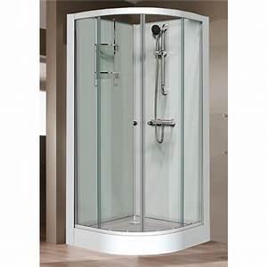 cabine de douche 1 4 c 90x90 cm portes coulissantes With porte douche 90x90