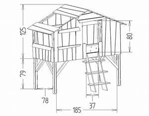 Plan Cabane En Bois Pdf : lit enfant style cabane en bois laqu 90x190 cm mobilier ~ Melissatoandfro.com Idées de Décoration