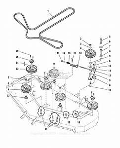 Ferris 5000  72 - 72 U0026quot  Mower Deck  S  N  1209  U0026 Below  Parts Diagram For 72 U0026quot  Mower Deck