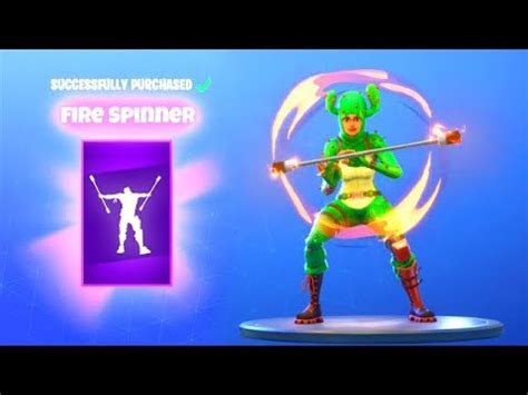 fire spinner emote  item shop fortnite