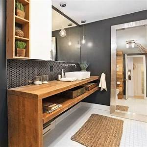 117 best salle de bain images on pinterest bathrooms With salle de bain design avec grande vasque lavabo