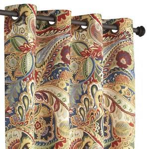 vibrant paisley grommet curtain pier 1 imports