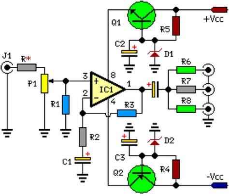 build  channel audio splitter circuit diagram
