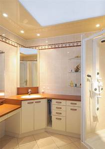 faux plafonds fixes et accessoires plafond platre With plafond tendu salle de bain