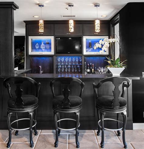 built in electric fireplace diy home bar cabinet home bar contemporary with black and