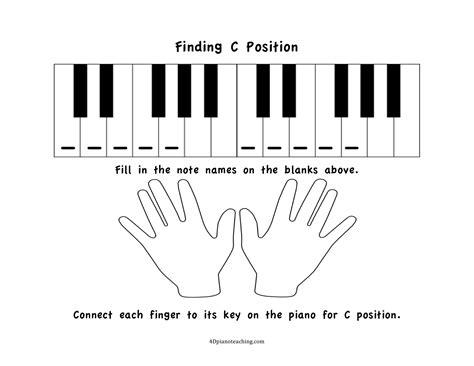 free printables c position worksheets 4dpianoteaching