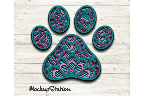 These 3d svg designs aren't too hard to use but they can make a huge visual impact, which i love. Dog Paw 3D Mandala SVG, Animal Paw Pet Lover Layered DXF ...