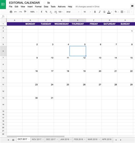 drive calendar template 2017 simple editorial calendar template for drive excel erin blaskie